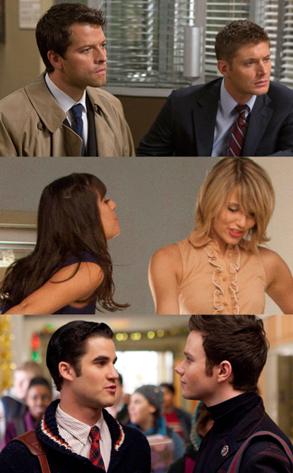 Misha Collins, Jensen Ackles, Supernatural, Darren Criss, Chris Colfer, Glee Dianna Agron, Lea Michele, Glee