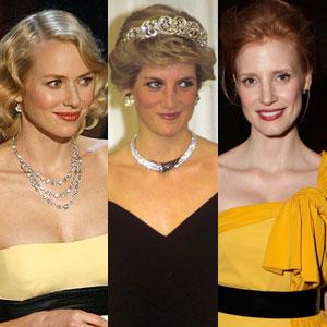 Princess Diana, Naomi Watts, Jessica Chastain