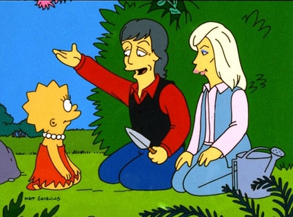 Paul McCartney, Linda McCartney, The Simpsons
