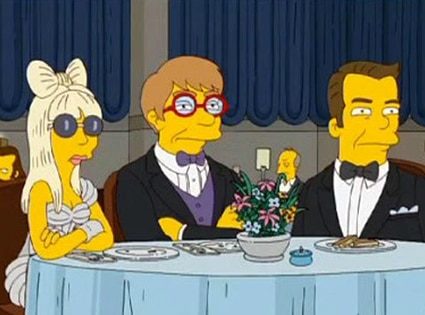 Lady Gaga, Elton John, The Simpsons
