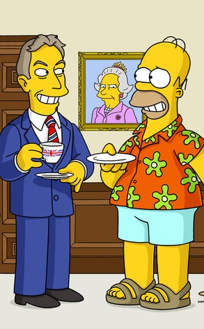 Tony Blair, The Simpsons