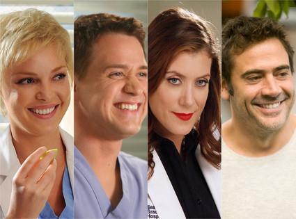 Grey's Anatomy, Katherine Hiegl, TR Knight, Kate Walsh, Jeffrey Dean Morgan