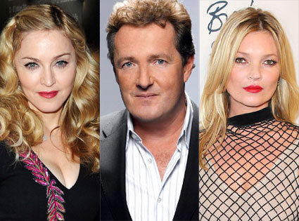Madonna, Piers Morgan, Kate Moss
