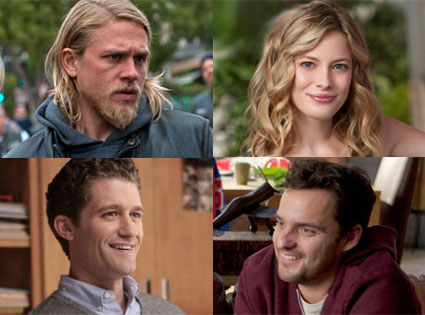 Sons of Anarchy, Charlie Hunnam, Gillian Jacobs, Community, NEW GIRL, Jake Johnson, Glee, Matthew Morrison