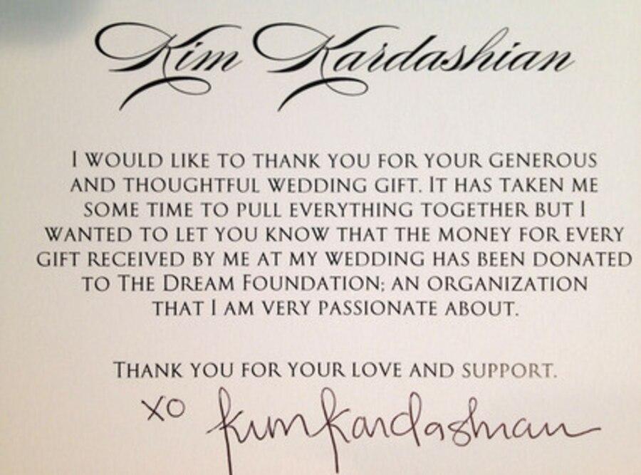 Kim Kardashian Gift Donation