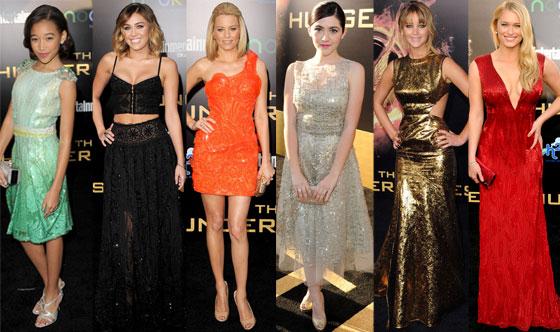 Jennifer Lawrence, Leven Rambin, Amandla Stenberg, Isabelle Furhman, Miley Cyrus, Elizabeth Banks