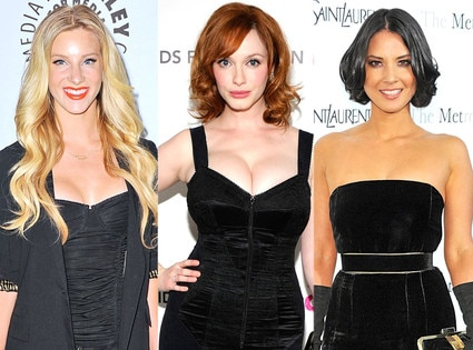 Heather Morris, Christina Hendricks, Olivia Munn
