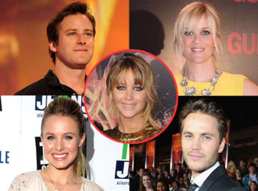 Armie Hammer, Reese Witherspoon, Taylor Kitsch and Kristen Bell, Jennifer Lawrence