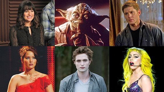 Lea Michele, Yoda, Jensen Ackles, Jennifer Lawerence, Robert Pattinson, Lady Gaga