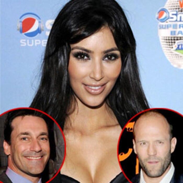 Jon Hamm, Kim Kardashian, Jason Statham
