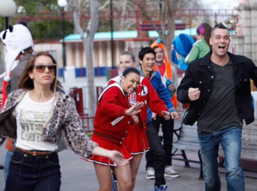 Glee, Vanessa Lengies, Naya Rivera, Heather Morris, Harry Shum Jr., Mark Salling