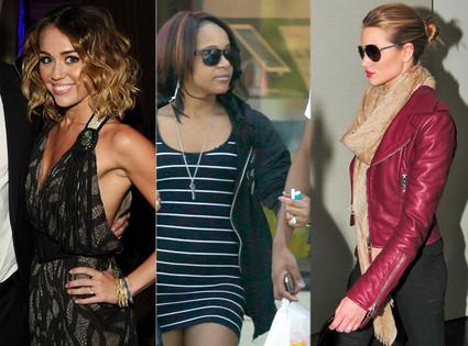 Miley Cyrus, Bobbi Kristina Brown, Rosie Huntington-Whiteley