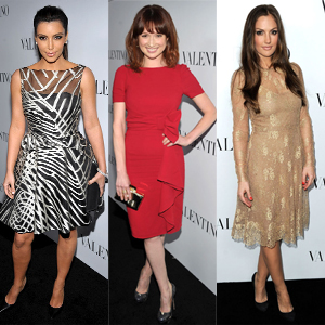 Molly Sims, Kim Kardashian, Ellie Kemper, Minka Kelly, Nicky Hilton, Rose McGowan