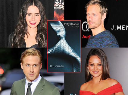 Lily Collins, Alexander Skarsgard, Mila Kunis, Ryan Gosling, Fifty Shades of Grey