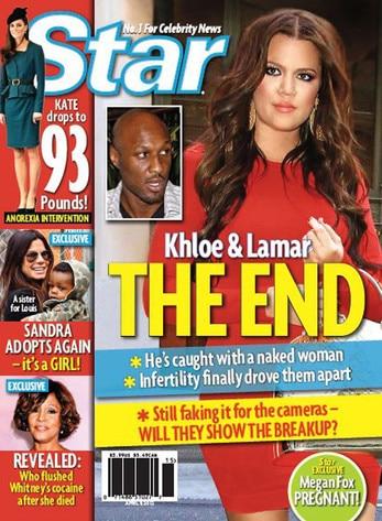 Khloe Kardashian, Lamar Odom, Star Magazine