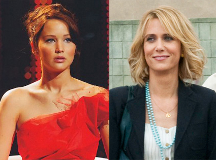 The Hunger Games, Jennifer Lawrence, Bridesmaids, Kristin Wiig