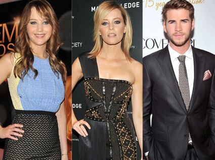 Jennifer Lawrence, Elizabeth Banks, Liam Hemsworth