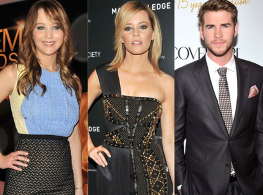 Jennifer Lawrence, Elizabeth Banks, Liam Hemsworth