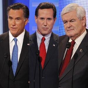 Mitt Romney, Rick Santorum, Newt Gingrich