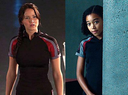 The Hunger Games, Movie, Jennifer Lawrence, Amandla Stenberg