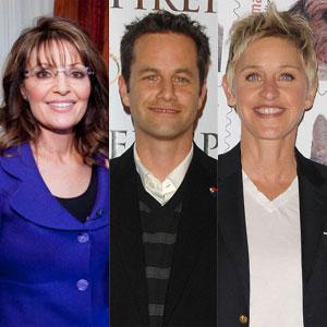 Sarah Palin, Ellen Degeneres, Kirk Cameron