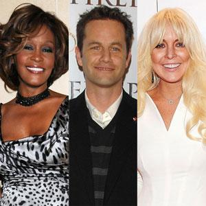 Whitney Houston, Kirk Cameron, and Lindsay Lohan