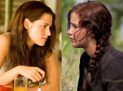 Jennifer Lawrence, Hunger Games & Kristen Stewart, Breaking Dawn