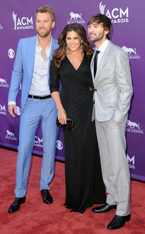 Country Music Awards, Charles Kelley, Hillary Scott, Dave Haywood, Lady Antebellum