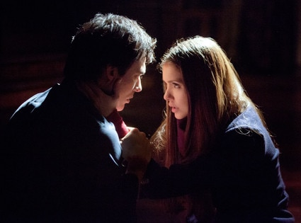 The Vampire Diaries, Ian Somerhalder as Damon and Nina Dobrev