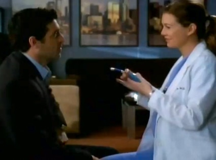 Patrick Dempsey, Ellen Pompeo, Grey's Anatomy, OMG Moments