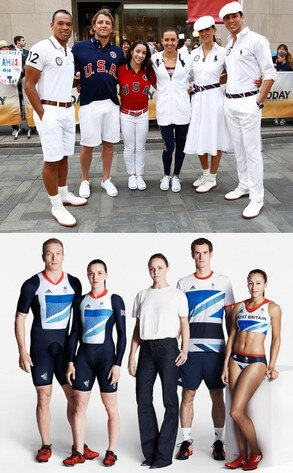 U.S. Olympic Team Uniforms, Ralph Lauren, U.K. Olympic Team Uniforms, Stella McCartney