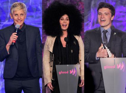 Josh Hutcherson, Cher, Ellen Degeneres