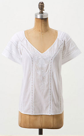 Crochet Summer Style, Anthropologie peasant blouse