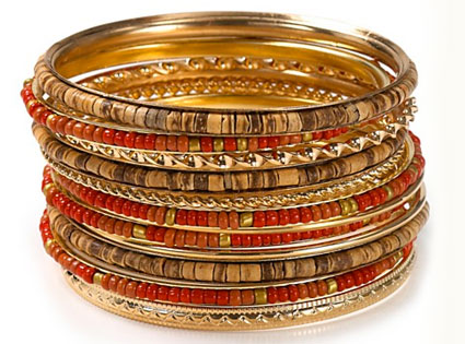 Tribal Summer Style, Bloomingdales bangles