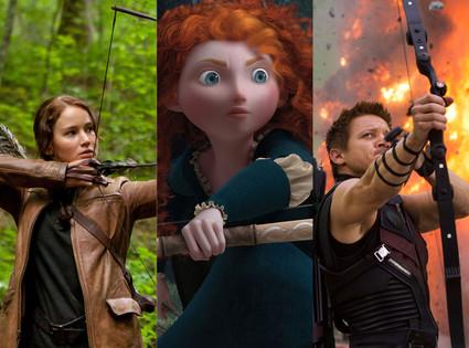 Hunger Games, Brave, The Avengers, Jeremy Renner