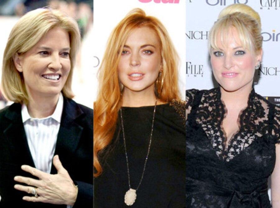 Meghan McCain, Lindsay Lohan, Greta Van Susteren
