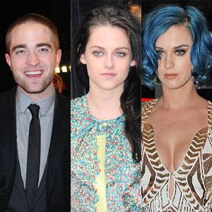 Robert Pattinson, Kristen Stewart, Katy Perry