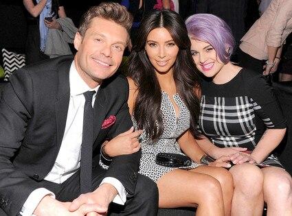 E! Upfront,  Ryan Seacrest, Kim Kardashian, Kelly Osbourne