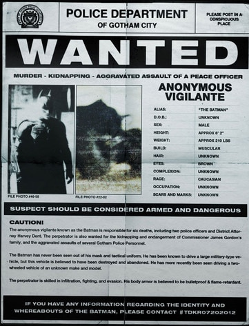 Batman Wanted poster