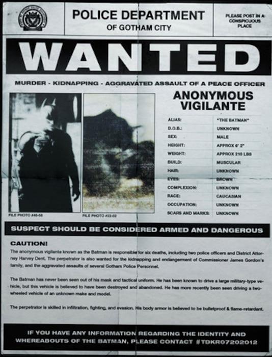 Batman Wanted poster
