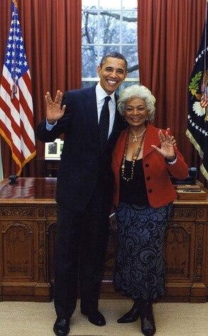 Nichelle Nichols, President Barack Obama