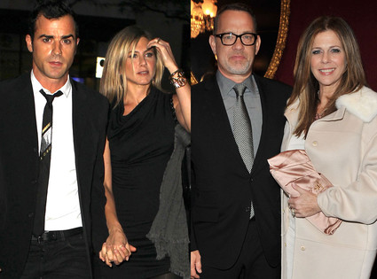 Tom Hanks, Rita Wilson, Justin Theroux, Jennifer Aniston