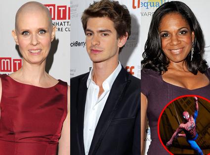 Cynthia Nixon, Andrew Garfield, Audra Mcdonald, Spiderman Turn off the Dark