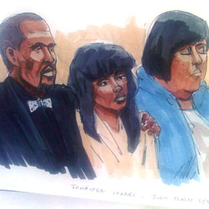 Jennifer Hudson, courtroom sketch