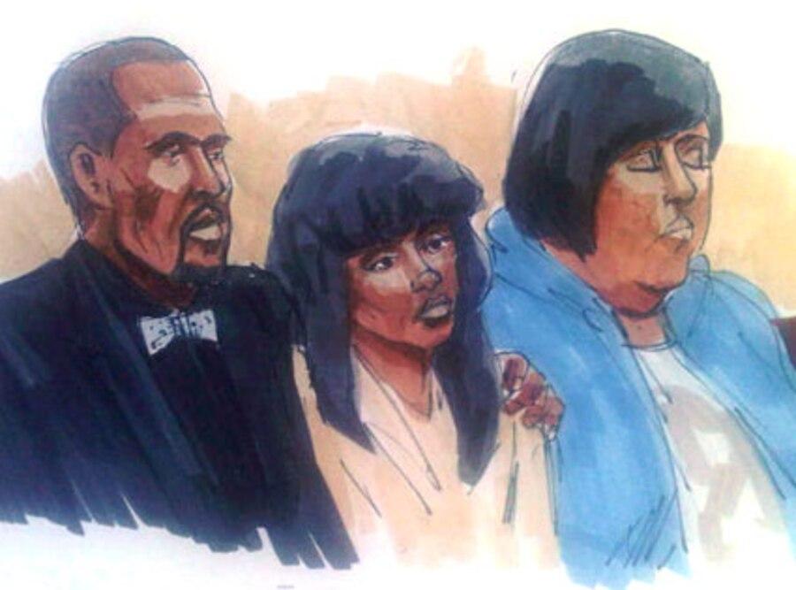 Jennifer Hudson, courtroom sketch