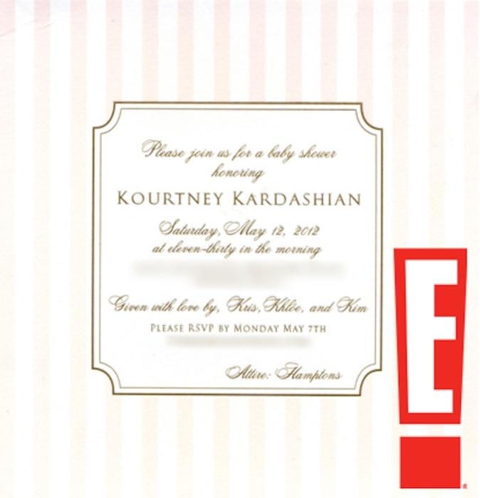 Kourtney Kardashian, baby shower invite, watermarked