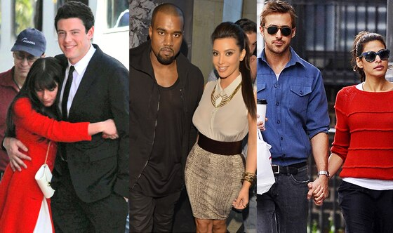 Lea Michele, Cory Moneith, Kanye West, Kim Kardashian, Ryan Gosling, Eva Mendes