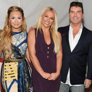 X Factor Upfront, Demi Lovato, Britney Spears, Simon Cowell