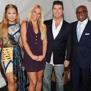 X Factor Upfront, Demi Lovato, Britney Spears, Simon Cowell, LA Reid