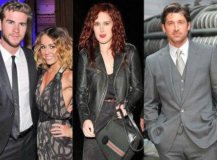 Miley Cyrus, Liam Hemsworth, Rumer Willis, Patrick Dempsey